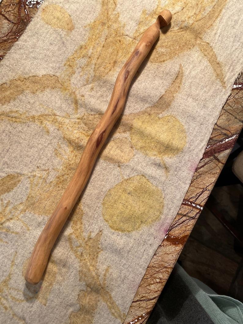 Crochet Tunisian hook hardwood hand carved