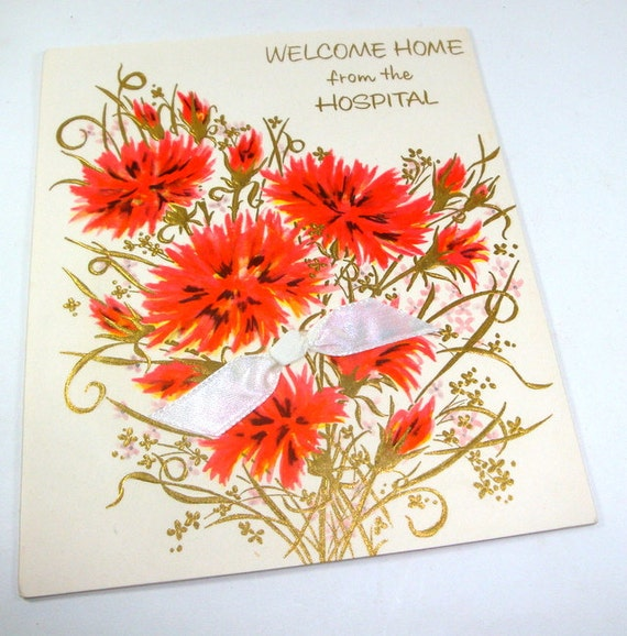 Vintage greeting card welcome home from the hospital charm etsy image 0 m4hsunfo