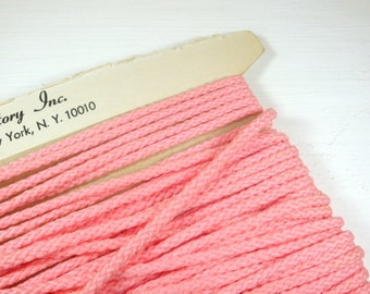Vintage Pink Cord Trim, Sewing, Crafting, Embellishments,