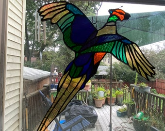 Pheasant Beauty Stained Glass