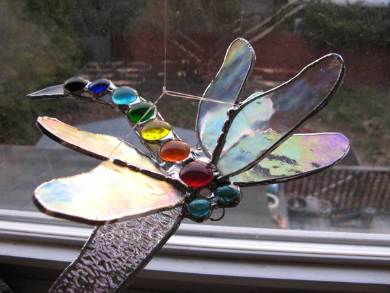 Double capteur ailé demoiselle libellule Chakra brillant et irisé ailes de lumière
