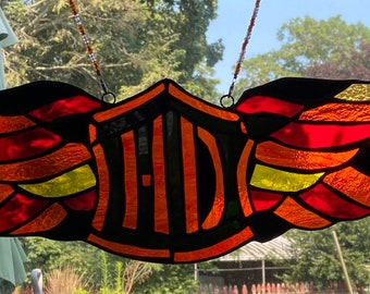 Harley Davidson inspired wings