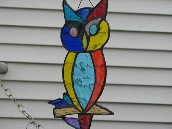 Hibou Calico vitrail beauté colorée