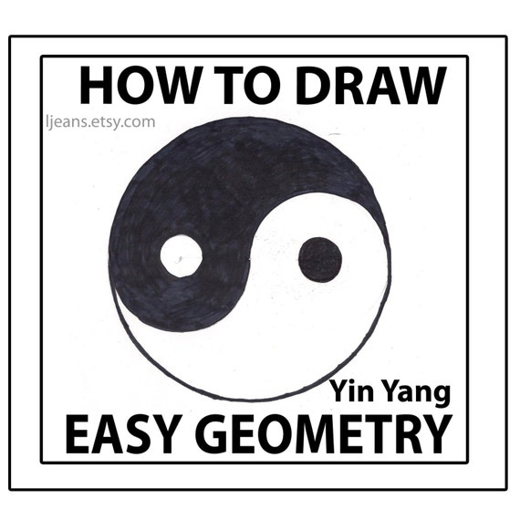 How To Draw Easy Geometry Yin Yang Tutorial Etsy