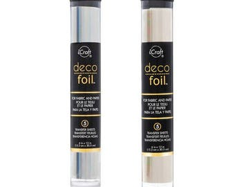 Deco Foil Transfer Sheets - Opalescent & Iridescent - 5 sheets each