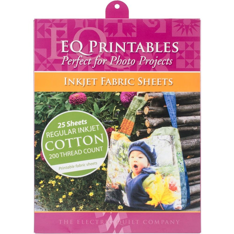 Eq Printables Inkjet Fabric 25 Cotton Sheets 8 5 X 11