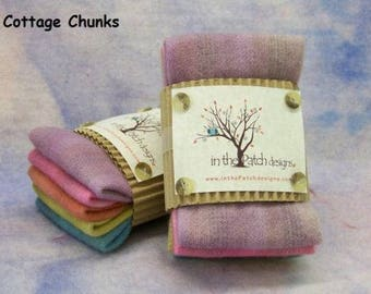 Hand Dyed Wool Chunks: 100% wool #Cottage