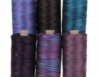 Valdani 50wt Six Spools Twilight Collection - 100% Cotton