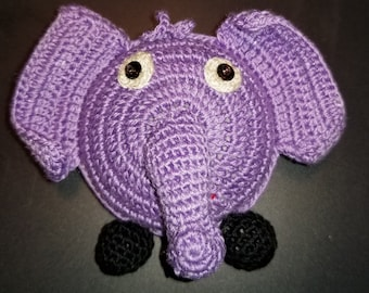 """Elephant - Crocheted Tape Measure 60""""/150cm (assorted colors)"""