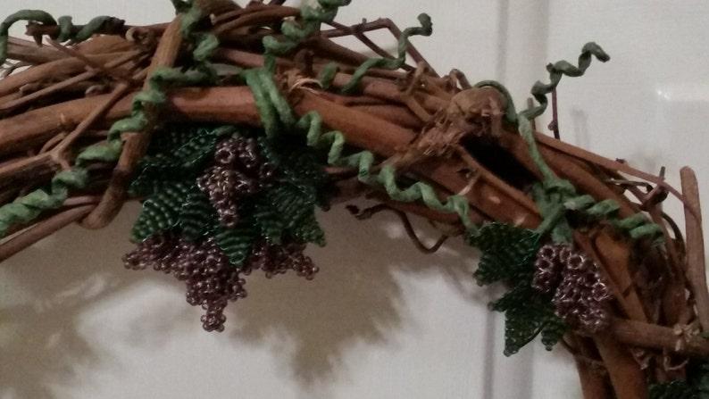 Grapevine beaded wreath