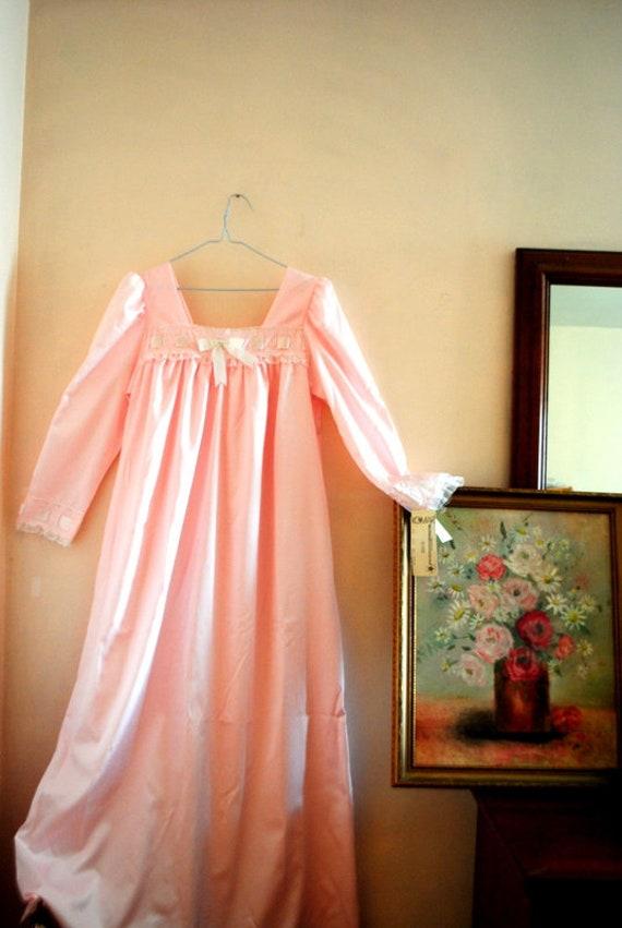Victorian style  vintage 80s, pastel pink , silky