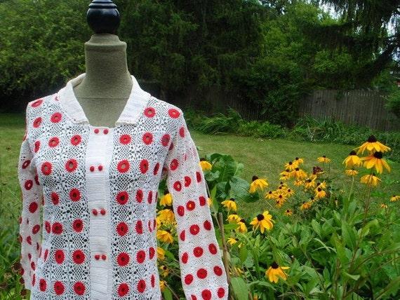 Mod vintage 60s, white cotton crochet, tube  dress