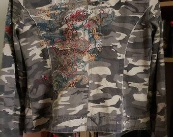 DESERT CAMO COMBAT PADDED JACKET boys 9-10 British army camouflage soldier coat