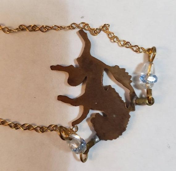 Pididdly Links Unicorn Choker/Necklace Signed - image 4