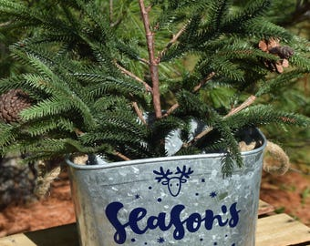 Christmas bucket etsy