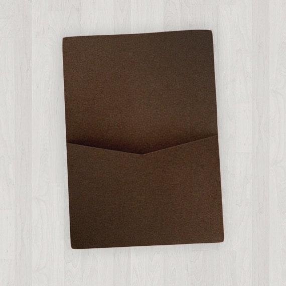 10 flat pocket enclosures brown diy invitations etsy