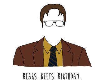 PRINTABLE The Office-parody birthday Dwight-inspired card funny card (download only)