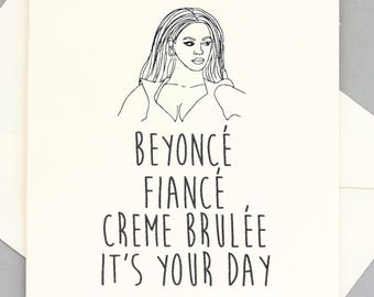 Birthday card Beyoncé, any occasion, anniversary, wedding, funny Beyonce birthday Beyonce gift Beyonce present Beyonce funny