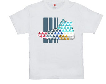 Classic Sneaker Triangles T-Shirts