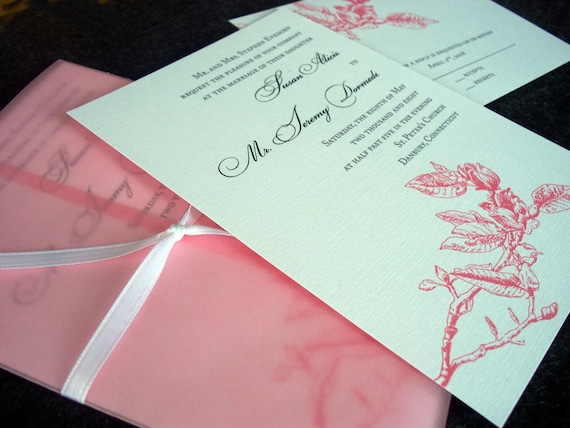 Atlanta Wedding Invitations: Items Similar To Magnolia Wedding Invitation Sample