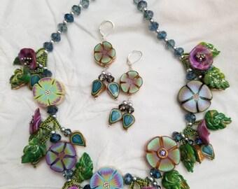 Blues Secret Garden Necklace Set
