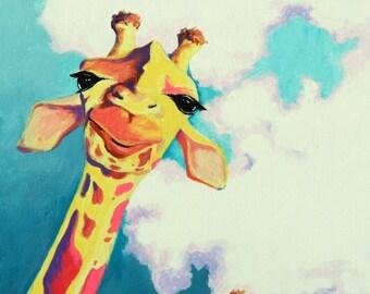 Giraffe Art Print Curious Fellows