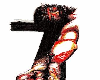 Art Print - Jesus on the Cross - The Gift