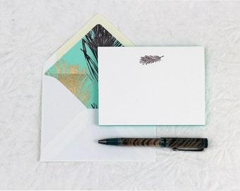 Feather Fancy Pants - Letterpress Notecards