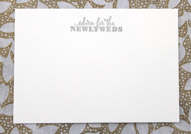 Gray MarriageWedding advice cards