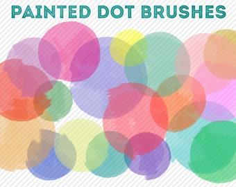 Photoshop Brushes - Painted Dots