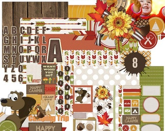 Campy - Digital Scrapbooking Kit