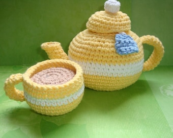 Teapot with Cup PDF Crochet Pattern