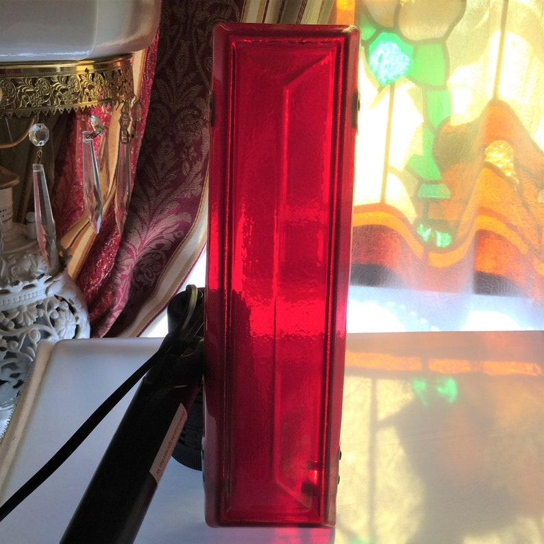 1 of 2 Vintage Translucent Red Marquee Number 1 or Letter L Also Available are the Numbers 9 or 6 and 5. It is about 10 inches Tall