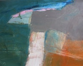 Abstract Landscape, Original mixed media painting on canvas