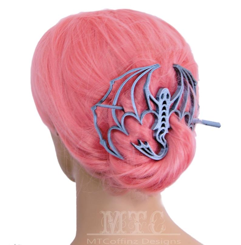Dragon Bun Holder Hair Cage 3D Printed Mythical Creature Long Hair Accessory Scarf Clip Hair Fantasy Goth Decoration Free Shipping MTcoffinz