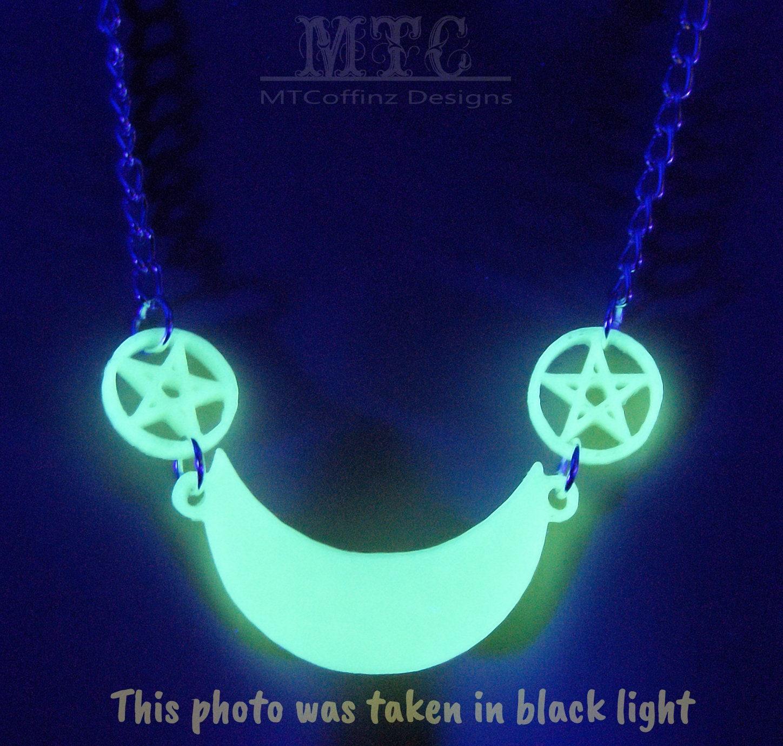 Vegan Necklace Statement Necklace Pastel Witch Navy Blue