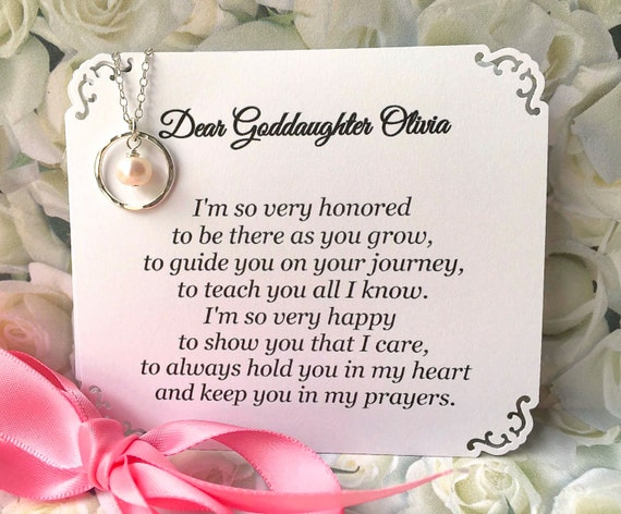 GODDAUGHTER Gift With POEM CARD Goddaughter Jewelry Gift