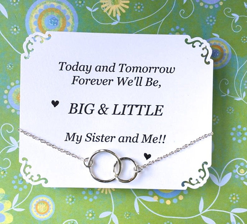 BIG and LITTLE Sorority Sister Gift Sterling Silver Graduation Gift for Big Sister For Little Sister Birthday Gift for Sorority Sister