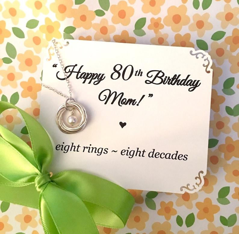 80th BIRTHDAY Gift For Women Birthday Mom Grandma 8th