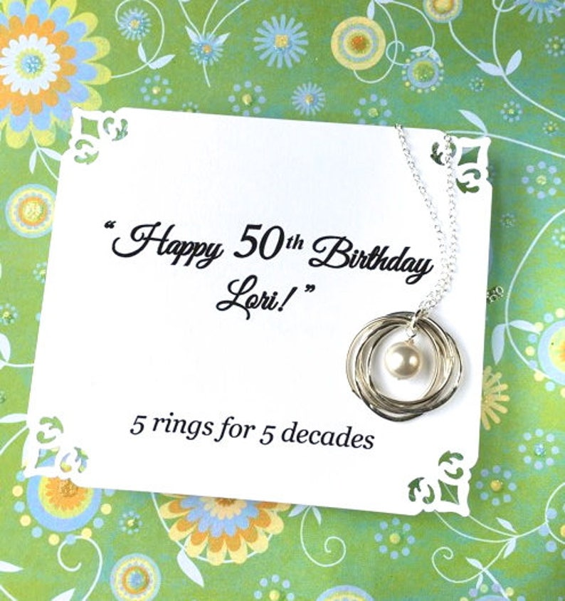 50th Birthday Necklace For Wife Gift Women