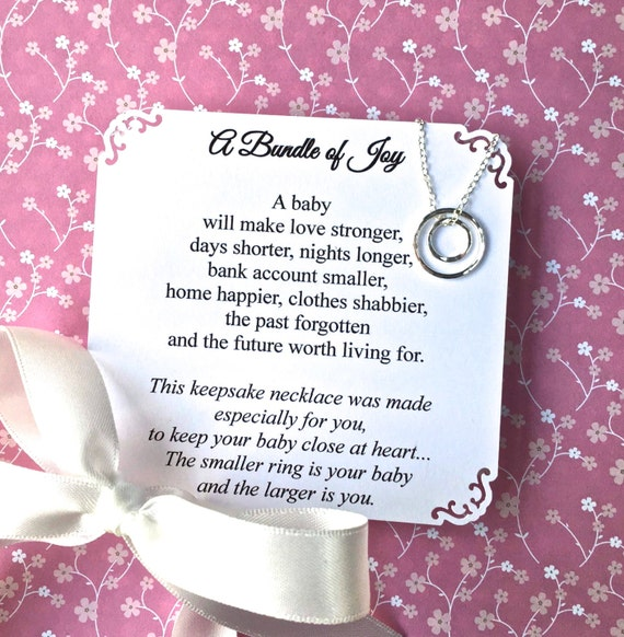 Gift For New Mommy And Baby Sterling Silver Circles New Mom Etsy
