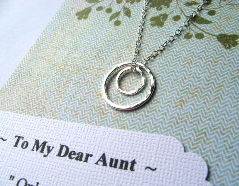AUNT Gift Sterling Silver or Gold Necklace Gift for Aunt image 1