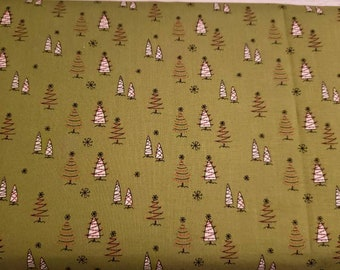 Merry Little Christmas - Green Trees by Sandy Gervais for Riley Blake - Fabric by the yard C9641-GREEN