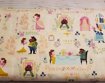 Beauty and the Beast - by Jill Howarth for Riley Blake - Fabric by the yard C9530-CREAM