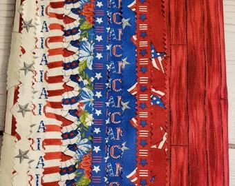 America The Beautiful- Fat Quarter Bundle - Deb Strain for Moda - 12 piece Fabric Bundle -  Quilting Fabric