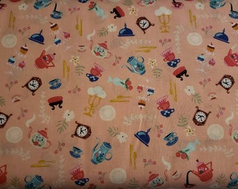 Beauty and the Beast - by Jill Howarth for Riley Blake - Fabric by the yard C9534-PINK