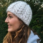 The softest hand knitted chunky 100% merino beanie, women's hat, woolly winter hat