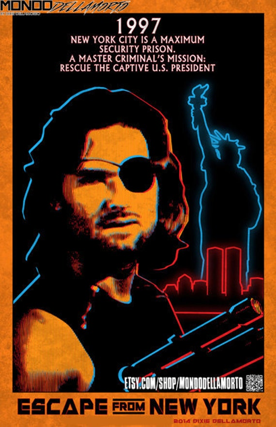Escape From New York Poster.Escape From New York 11x17 Poster Print Etsy