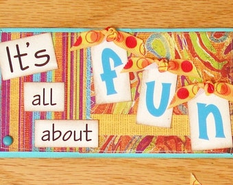 All About Fun Premade scrapbbok Layout 12x12 Titles Pages