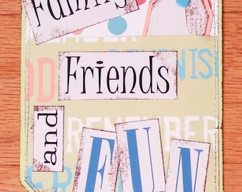 Family Premade scrapbook title premade pages 12x12 - blocks